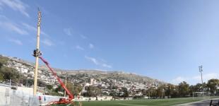 Ο Δήμος Περάματος εκσυγχρονίζει τον ηλεκτροφωτισμό του γηπέδου ποδοσφαίρου της πόλης