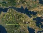 200 χρόνια από την Επανάσταση του 1821: Η Aegean σχημάτισε τον αριθμό 200 πετώντας πάνω από την Πελοπόννησο