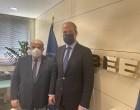 Συνάντηση Χρ. Μπουτσικάκη με τον Πρόεδρο της ΓΣΕΒΕΕ – ΠΟΕΣΕ