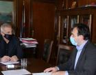 Συνάντηση Δημάρχου  Πειραιά Γιάννη Μώραλη με τον Πρόεδρο της Κ.Ε.Δ.Ε. και Δήμαρχο Τρικκαίων Δημήτρη Παπαστεργίου