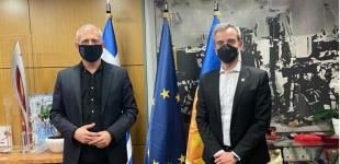 Συνάντηση Γιάννη Μώραλη με τον Κωνσταντίνο Ζέρβα στο Δημαρχείο Θεσσαλονίκης