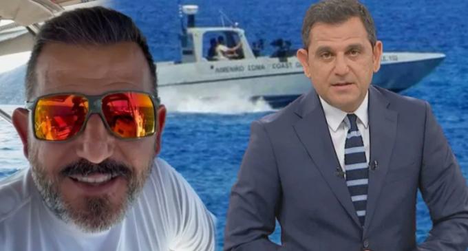 Τούρκος δημοσιογράφος μπήκε με το σκάφος του στα ελληνικά χωρικά ύδατα και εκδιώχθηκε από το Λιμενικό Σώμα