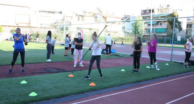 Μαθητές σχολείων προπονήθηκαν από Ολυμπιονίκες