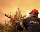 Φωτιά σε δασική έκταση στην Κερατέα κοντά σε κατοικημένη περιοχή