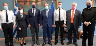 Επίσκεψη ΥπΑΑΤ Σπ. Λιβανού στο Υπουργείο Ναυτιλίας