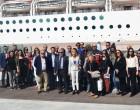 Ο Αντιδήμαρχος Πειραιά Ανδρέας Βεντούρης στην ξενάγηση του κρουαζιερόπλοιου «MSC MUSICA»