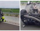 Σοβαρό τροχαίο ατύχημα – Αυτοκίνητο ντελαπάρισε λόγω σκασμένου λάστιχου
