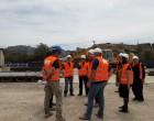 Περιοδεία στο εργοτάξιο του υποθαλάσσιου αγωγού νερού στην Αίγινα