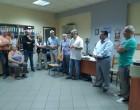 Αντιπροσωπεία της Δημοτικής Αρχής στο γκαράζ της ΥπηρεσίαςΚαθαριότητας του Δήμου Μοσχάτου-Ταύρου