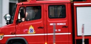 Πυρκαγιά σε μάντρα αυτοκινήτων στο Μαρούσι