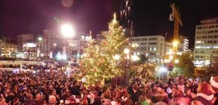 Άναμμα Χριστουγεννιάτικου δέντρου στην πόλη (ΦΩΤΟ)