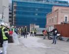 Εξόρμηση συνδικάτων στο εργοτάξιο του πρώην «Παπαστράτου» (ΦΩΤΟ)