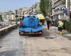 Επιχείρηση καθαρισμού στο παραλιακό μέτωπο της Ζέας από τον Δήμο Πειραιά
