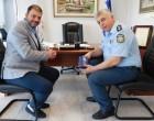 Εθιμοτυπική επίσκεψη Ταξίαρχου ΕΛ.ΑΣ. στον Δήμαρχο Κορυδαλλού
