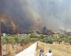Φωτιά στις Κεχριές Κορινθίας: Απειλούνται σπίτια – Συναγερμός για το στρατόπεδο