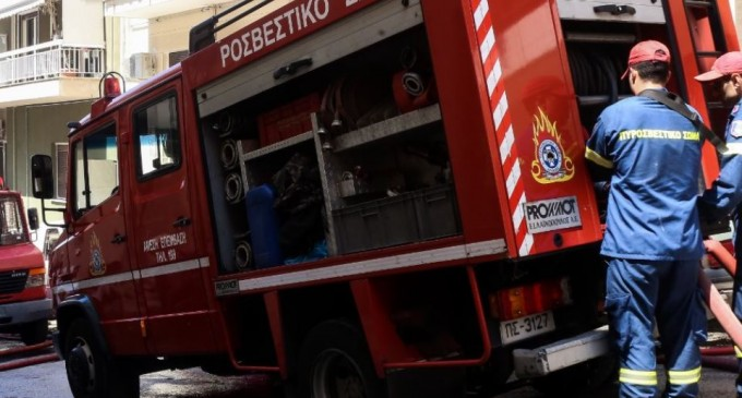 Νέες εικόνες από τη φωτιά στο Σχιστό