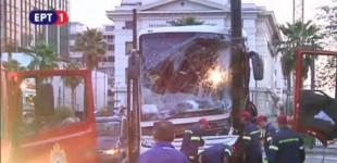 ΣΟΚ- Τροχαίο στην ακτή Μιαούλη: Λεωφορείο έπεσε σε κολόνα (βίντεο)