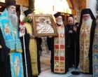 Υποδοχή της ιεράς θαυματουργού εικόνας της Παναγίας Τρυπητής