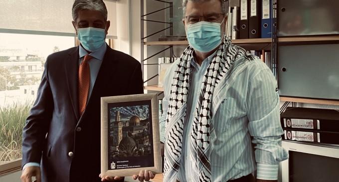 Επίσκεψη του Παλαιστίνιου Πρέσβη στον Δήμο Μοσχάτου-Ταύρου