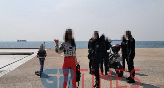 Δεν βάζει μυαλό: Μετά τον Χαρδαλιά εξύβρισε αστυνομικό η «παρουσιάστρια» στη Θεσσαλονίκη