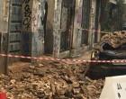 Έπεσε τοίχος εγκαταλελειμμένου κτιρίου στο Μεταξουργείο