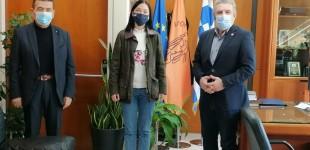 Συνάντηση της Βουλευτού του Κινήματος Αλλαγής Β2 Δυτικού Τομέα Αθήνας Νάντιας Γιαννακοπούλου με τον Δήμαρχο Ιλίου Νίκο Ζενέτο