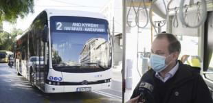 Έρχονται τα ηλεκτροκίνητα λεωφορεία: Αθόρυβα και χωρίς κραδασμούς -Σε δοκιμαστική διαδρομή ο Κώστας Καραμανλής