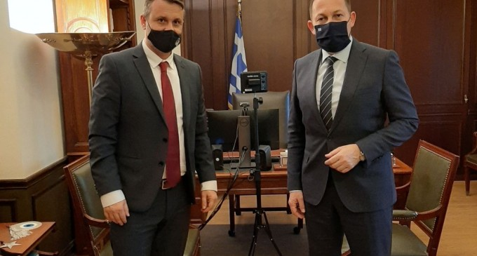 Συνάντηση του Δημάρχου Σαλαμίνας με τον Αναπληρωτή Υπουργό Εσωτερικών