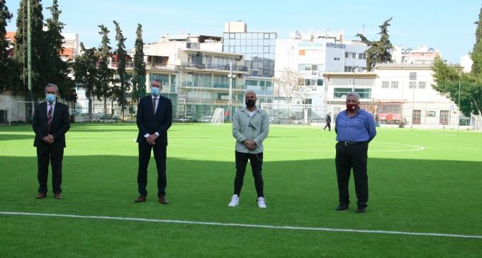 Ο Δήμος Πειραιά παρέλαβε το ανακαινισμένο γήπεδο του Αγίου Διονυσίου