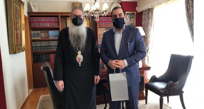 Συνάντηση Κώστα Κατσαφάδου με τον Μητροπολίτη Πειραιώς Σεραφείμ