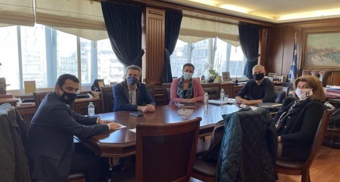 Συνάντηση Γιάννη Μώραλη με τον Δήμαρχο Ύδρας Γιώργο Κουκουδάκη