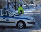 Κακοκαιρία «Μήδεια»: Διακόπηκε η κυκλοφορία στη λεωφόρο Διονύσου