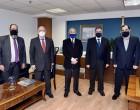 Συνάντηση Υφυπουργού Ναυτιλίας Κώστα Κατσαφάδου με τον Πρόεδρο του ΕΒΕΠ Βασίλη Κορκίδη