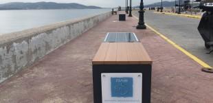 «Έξυπνα» ηλιακά παγκάκια εγκατέστησε ο Ο.Λ.Ε. ΑΕ στην Ελευσίνα