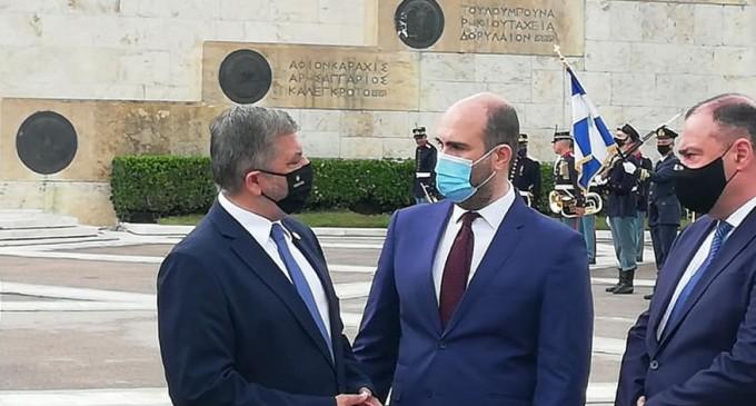 Ο Δ.Μαρκόπουλος στην τελετή για τη γενοκτονία των Αρμενίων