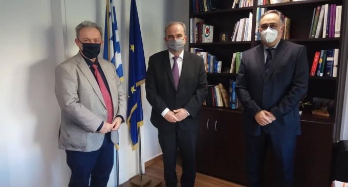 Με τον αναπληρωτή Υπουργό Ανάπτυξης & Επενδύσεων  Νικόλαο Παπαθανάση  συναντήθηκε ο Πρόεδρος του ΒΕΠ  -Οι προτάσεις του Επιμελητηρίου