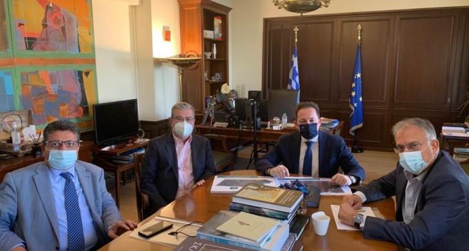 Συνάντηση του Ανδρέα Ευθυμίου με τον Αν. Υπουργό Εσωτερικών, Στέλιο Πέτσα, για θέματα του Δήμου Μοσχάτου-Ταύρου