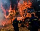 Φωτιά στο Σχίνο: Εκκενώνεται ο οικισμός Παπαγιαννέικα στα Μέγαρα