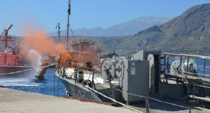 Άσκηση ατυχήματος στο ναύσταθμο Κρήτης