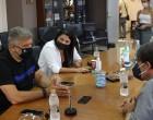 Επίσκεψη Περιφερειάρχη Αττικής Γ. Πατούλη στο Κερατσίνι και συζήτηση με τον Δήμαρχο Χ. Βρεττάκο