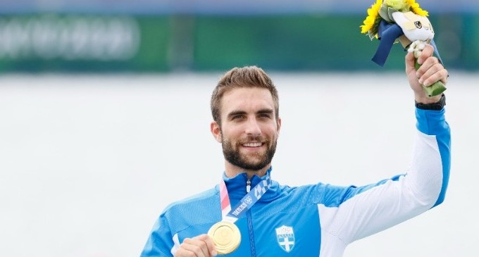 «Χρυσός» με Ολυμπιακό ρεκόρ ο Ντούσκος