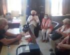 Την Αίγινα επισκέφθηκε η Δ. Μανωλάκου