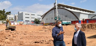 Επίσκεψη του Γ. Πατούλη στα έργα κατασκευής του νέου κλειστού Γυμναστηρίου στη Ν. Σμύρνη