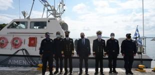 Το πρώτο νέο περιπολικό σκάφος με σύγχρονο ιατρικό εξοπλισμό παρέδωσε στη Σκιάθο ο ΥΝΑΝΠ Γιάννης Πλακιωτάκης