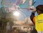 Ξεκίνησαν οι εργασίες καθαρισμού από γκράφιτι στα ηχοπετάσματα της Λεωφόρου Κηφισού